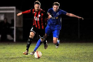 Ollie Moore (right) is set to return for Broadbridge Heath at the weekend. Picture by Steve Robards.