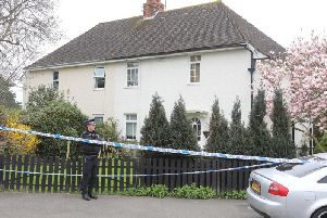 The scene of the deaths in South Farm Road, Worthing, last year