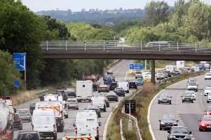 Work is continuing to change part of the M23 into a 'smart motorway'