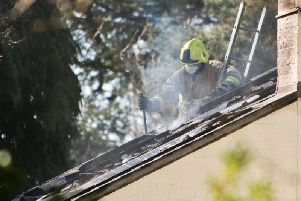 Firefighters at the scene