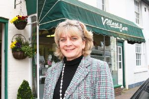 Christina Hoad, outside Village Care, which is home to 'Christina's' tea room