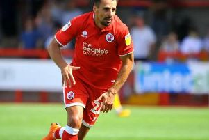 Filipe Morais scored for Crawley Town against Yeovil Town. Picture by Steve Robards