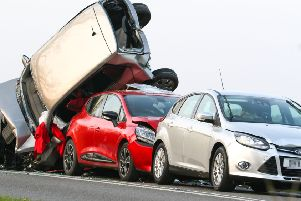 Emergency services responded to a five car collision on the A29 SUS-190415-100253001