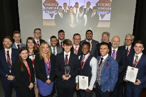Billy Venner is the Young Start Up Talent Winner 2019. Picture shows YST Co Founders Lorraine Nugent and Matt Turner all finalists and judges (Photo by Jon Rigby)