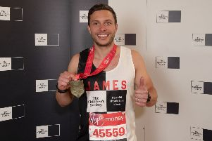 Barns Green dad James Hassett raised thousands at the London marathon for The Children's Society SUS-190430-161614001