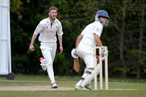 Roffey bowler Alex Collins took a five-for against Brighton & Hove on Saturday. Picture by Steve Robards