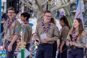Horsham Scout District at the St George's Day Parade. Picture: Owen Duda SUS-190513-141527001
