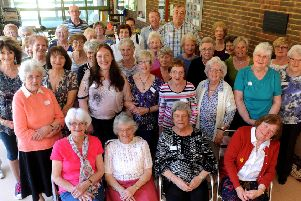 Horsham Hospital League of Friends pictured at a lunch event in 2017. Pic Steve Robards  SR1706710