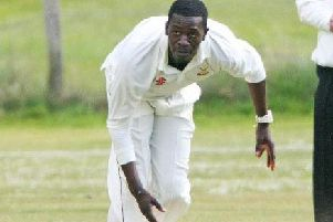 Steyning seamer Cleon Reece took three wickets in the win over Findon. Picture by Derek Martin