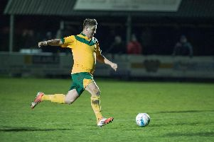Terry Dodd in action during Horsham's promotion winning campaign. Picture by PW Sporting Photography