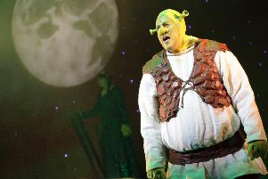 Tom Paine as Shrek. Picture by Stephen Candy