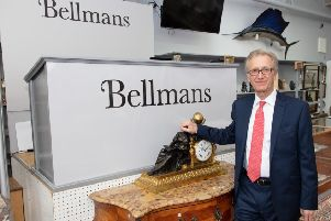 Bellman's auctioneer for the evening Philip Belcher. Picture: Graham Franks Photography SUS-190520-143643001