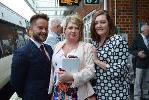A bespoke British Belmond Pullman train trip was held in aid of St Catherine's Hospice SUS-190522-155218001