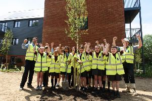 Pupils at Handcross Primary School have made their mark on history by planting trees in the village SUS-190306-115037001