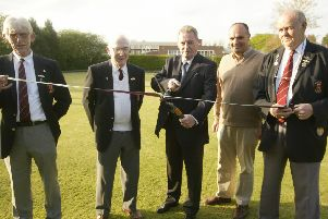 Paul Darrow, pictured third from left, at the opening of Billingshurst Bowling Club's new season in 2007
