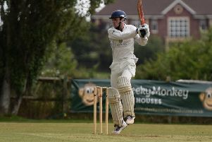 Cricket. Sussex League Division 4. ''Slinfold v Stirlands''Pictured is batting for Slinfold is Sean Overton. 'Slinfold, West Sussex. 'Picture: Liz Pearce 22/07/2017''LP170295 SUS-170722-185714008