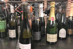 A selection of English wines