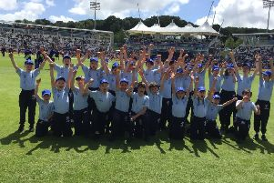 St Peter�s CofE Primary School on the pitch at The Ageas Bowl