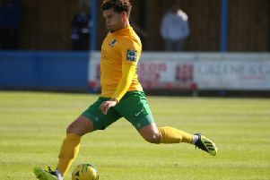 Horsham and Montserrat defender Joey Taylor. Picture by John Lines