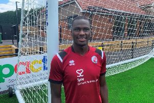 Goalkeeper Michael Luyambula. Picture courtesy of Crawley Town
