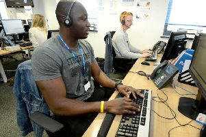 An NHS 111 health advisor at South East Coast Ambulance Service