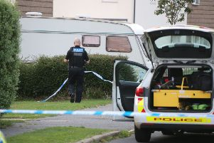 Police at the scene of the incident in Willow Way, Hurstpierpoint