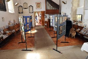 The annual Artists and Makers Exhibition at St Nicholas Church in Bramber S34611H14