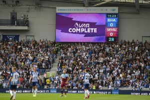 VAR ruled out Leandro Trossard's first half goal for Brightn against West Ham
