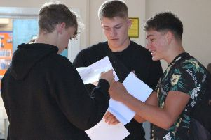 Pupils recieved their results after a nervous wait.