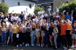 Pupils celebrate 'exceptional' results at Tanbridge