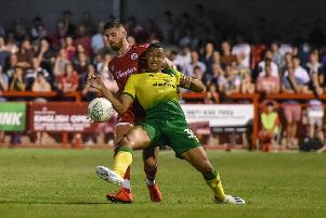 Tom Dallison in action against Norwich City. Picture by PW Sporting Photography
