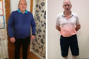 Adrian Rockall from Horsham before and after losing weight SUS-190909-145848001