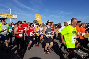 At the start of the Littlehampton 5k and 10k SUS-191009-122140001