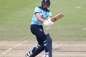 Horsham's Tom Clark in action for England U19s in July. Picture courtesy of Getty Images