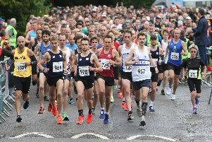 Action from the Barns Green Half Marathon