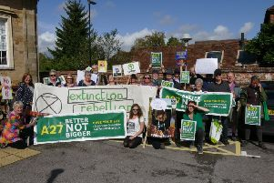 Arundel A27 demonstration before South Downs National Park Authority meeting