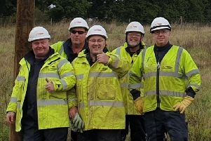 UK Power Networks volunteers with the new box