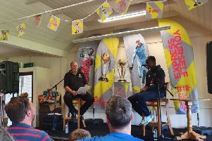 Jofra Archer is quizzed at Horsham Cricket Club