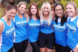 Horsham mums run for Harrison's Fund - 'Team Austin' from left to right:  Billie Dunlop, Emily Vowels, Sarah Raciti, Maxine Foster, Linda Siqi Zhao and Steph Collins SUS-190810-111638001