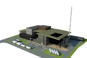 Artist's impression of the proposed new incinerator  SUS-190730-121328001