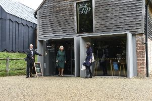 The Duchess of Cornwall visits Ditchling Museum of Art + Craft. Picture by Liz Pearce