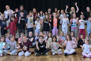 Razzamatazz Horsham students wearing their pyjamas during the theatre school's annual charity day SUS-191029-102048001