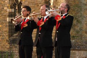 Buglers from the band mark Remembrance in Petworth  credit Rob Sadler