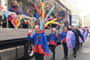 Horsham Guides at the Lord Mayor's Show in London SUS-191118-140935001
