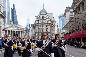 Christ's Hospital band at the Lord Mayor's Show
