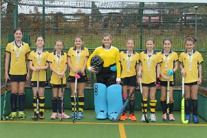 Cranleigh Prep Schools U12 girls hockey squad at the IAPS National Finals. Courtesy of Emma Reid
