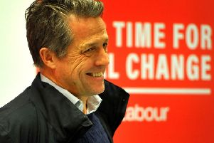 Hugh Grant visits a Crawley Labour Party supporters gathering. Pic Steve Robards SR07121901 SUS-190812-105525001