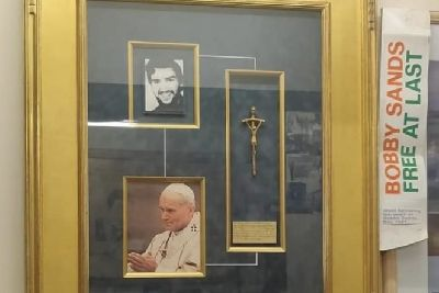 Crucifix given by Pope John Paul II to Patsy O'Hara in Derry