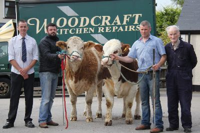 NI Simmental Cattle Breeders' Club chairman Richard Rogers is pictured with the team at Drumagarner
