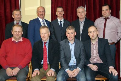 NI Simmental Cattle Breeders' Club chairman Richard Rodgers, centre back, is pictured with